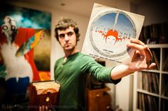 """Emek Can Tulus, a vinyl record collector from Istanbul, Turkey. """"One of my all time favorite Turkish 7"""". """"Denizalti Ruzgarlari"""" by Turkish master Jazz drummer Okay Temiz.   (C) All Rights Reserved to Eilon Paz & Dust & Grooves, a crate digging vinyl site. (C) All Rights Reserved to Eilon Paz & Dust & Grooves. Visit our Kickstarter at: kck.st/PkKM4V #vinyl #photography #collector #records #music #vintage #Turkish #Turkey"""