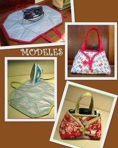 ARTE COM QUIANE - Paps,Moldes,E.V.A,Feltro,Costuras,Fofuchas 3D: Bolsa porta ferro de tecido