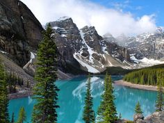 Glacier-fed Moraine Lake is one of Banff National Park's jewels. Photograph by Caleb Foster, Shutterstock  I am going soon!  Lora