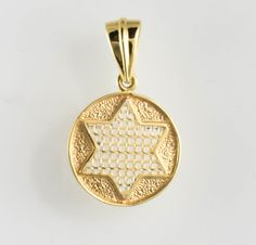 14 Kt Two Tone Gold Star of David