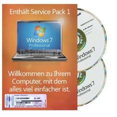 Windows 7 Professional 32Bit & 64Bit MAR inkl. Service Pack 1 DE Operating System, Computer, Website