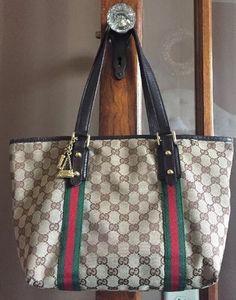 Gucci Guccissima Monogram Web Tote Handbag #Gucci #TotesShoppers