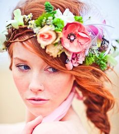#Beach bride's fishtail #braid #hair ideas ToniK #Wedding #Hairstyles ♥ ❶ #flowercrown #bohoChic