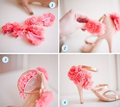 how to add some flowers to your strappy sandals and really take them up a notch http://mypreciousconfessions.blogspot.com/2012/05/tutorial-for-diy-flower-heels-tutorial.html