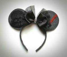 Darth Vader inspired Mouse Ears by MakeMeMinnie on Etsy