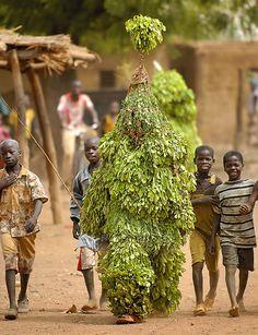 Africa | Masquerader. Region of Houndé, Burkina Faso | ©Sergio Pessolano