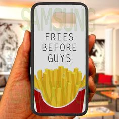 FRIES BEFORE GUYS quotes Samsung Galaxy S 4 5 6 Edge Note 3 4 case laser print in Cell Phones & Accessories, Cell Phone Accessories, Cases, Covers & Skins | eBay