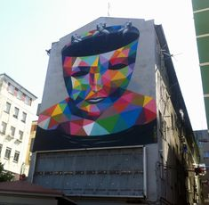 CJWHO ™ (Colorful Geometric Street Art by Okuda   via ...)