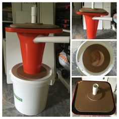 Cyclone Dust Collector made with a cone I bought for RM28
