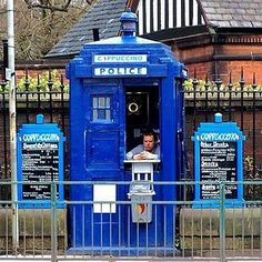 Grab a cappuccino at the TARDIS cafe, this is why im in the wrong country. oh my gosh.