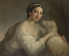 William Hoare of Bath (circa 1707-1792) - A portrait of a lady as Innocence