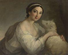 William Hoare of Bath (circa1707-1792) - A portrait of a lady as Innocence
