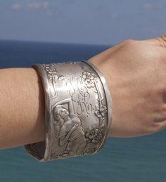 Antique Sterling Silver Art Nouveau Era Rare Goddess by CelebLuxe