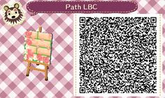Animal Crossing QR Codes ❤VandoriaforestTumblr Off white brick path w/ moss peeking through, Roses/ roses petals , Tile #8 Lower Left corner
