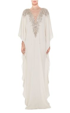 Get inspired and discover Curated Collection: The Caftan trunkshow! Shop the latest Curated Collection: The Caftan collection at Moda Operandi. Kaftan Designs, Hijab Fashion, Fashion Dresses, Emo Fashion, Lolita Fashion, Beautiful Dresses, Nice Dresses, White Kaftan, African Traditional Dresses