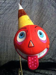 Glitterville Halloween Spooky Kooks Pumpkin Ornament | eBay