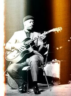 Wes Montgomery, a master and innovator.  Often played in octaves.  This is what the last frame on a roll of film can look like!   HH