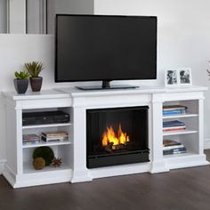 """Real Flame Fresno 72"""" TV Stand with Gel Fireplace $633 61"""