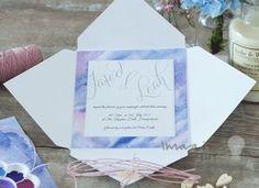 Pretty DIY wedding invitation and wedding stationery