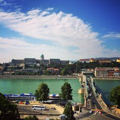 Stunning scenery of Buda from the roof of Four Seasons Gresham Palace on the last days of Summer.