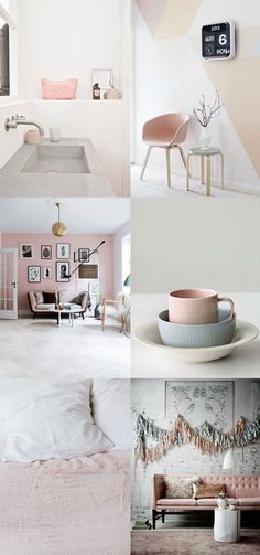Blush it up! Add hints of blush throughout your home for a fresh, airy feel.