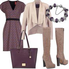 Un abito elegante per tutti i giorni nella tonalità del viola e25d8826ae81