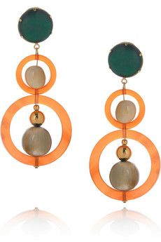 Marni Acetate and horn earrings