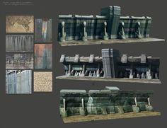 Outer City Wall Concepts, Ken Fairclough on ArtStation at https://www.artstation.com/artwork/xzAZ4