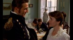 "Anne Elliot and Captain Wentworth - 1995 adaptation of Persuasion. This is an lovely version: Amanda Root, who plays Anne Elliot, starts off very plain and tired-looking, and becomes prettier throughout the film as she shines with her love for Wentworth, and realises she is still loved by him. ""All the privilege I claim for my own sex (it is not a very enviable one: you need not covet it), is that of loving longest, when existence or when hope is gone!"""