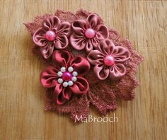 MaBrooch Handmade Flower Lace Headpiece