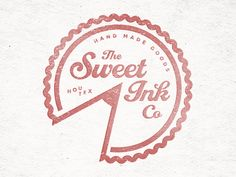 Sweet Ink designed by Jay Higginbotham. the global community for designers and creative professionals. Cake Branding, Logo Branding, Branding Design, Bakery Packaging, Corporate Branding, Brand Identity, Logo Inspiration, Pastry Logo, Dessert Logo