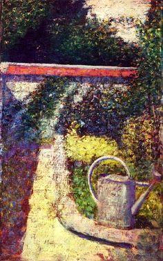 ジョルジュ・スーラ Georges Seurat : The Watering Can Garden At Le Raincy : National Gallery of Art, Washington DC Georges Seurat, Paul Signac, Paul Gauguin, Art Nouveau, Seurat Paintings, Statues, Art Through The Ages, Impressionist Artists, Museum