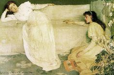 James McNeill Whistler Symphony in White, Number 3 Oil on canvas cm × cm Barber Institute of Fine Arts, Birmingham James Abbott Mcneill Whistler, Pre Raphaelite, Oil Painting Reproductions, Art For Art Sake, Woman Painting, Figure Painting, American Artists, Oil On Canvas, Photos