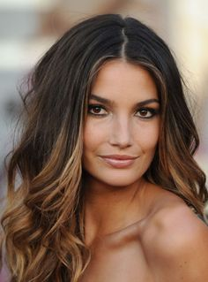 Medium brown Ombre- I wanna do this to my hair once it's longer!
