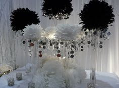 black and white centerpieces for party | black & white centerpieces Recipe | Just A Pinch Recipes