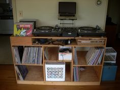 FS: Custom DJ Table and Record Shelving Unit for $50