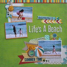 #papercraft #scrapbook #layout     Life's A Beach - Scrapbook.com