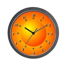 CafePress  Orange Dome Light Curious  Unique Decorative 10 Wall Clock ** For more information, visit image link.