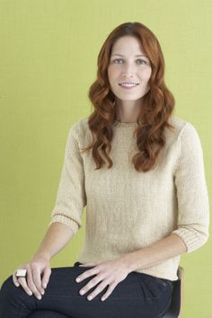 3/4 Sleeve Classic Pullover...free pattern from Lion Brand