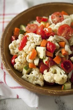 Paula Deen's Marinated Vegetable Salad - This is OUTSTANDING!. I didn't have white wine vinegar so I used red wine vinegar and it was so so good!