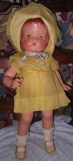 "Beautiful Effanbee all original Patsy Ann 19"" composition doll with original box."