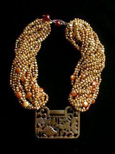 gretchen schields in ornament magazine Diy Jewelry Necklace, Statement Jewelry, Pearl Jewelry, Jewelry Art, Beaded Jewelry, Jewelery, Fine Jewelry, Handmade Jewelry, Beaded Necklace