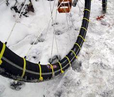 diy winter biking tie wraps photo
