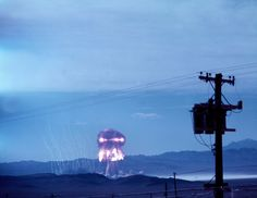 Atomic Annie at work during the Upshot-Knothole test series, 1953. (Photo by Los Alamos National Laboratory/US Army)
