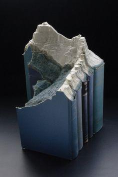 Des paysages sculptés dans des livres paysage sculpture livre 05 sculpture featured bonus art