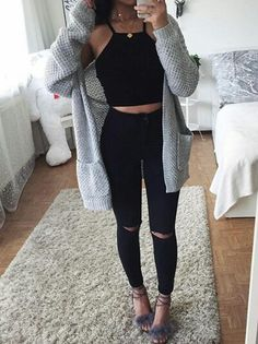 Find More at => http://feedproxy.google.com/~r/amazingoutfits/~3/G5NXWaTPeAE/AmazingOutfits.page Black Jeans, Pants, Outfits, Fashion, Outfit, Moda, Suits, Fasion, Trousers