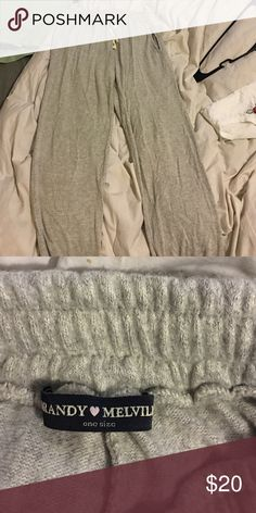 Brandy Melville sweat pants joggers Suuuuuuuper soft with a draw string and elastic around the bottom. Reasonable offers only Brandy Melville Intimates & Sleepwear Pajamas