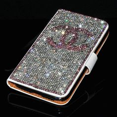 pink bling Case Galaxy S4 | bling holster cover chanel diamond leather case for Samsung GALAXY S4 ...