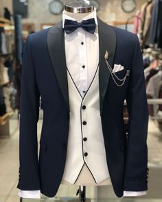 25f32a947a88 Rene Slim Fit Tuxedo - Navy Blue