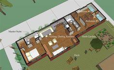 Modern Style House Plan - 3 Beds 2 Baths 976 Sq/Ft Plan #460-9 Main Floor Plan - Houseplans.com